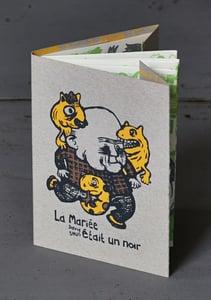 "Image of ""LA MARIÉE ÉTAIT UN NOIR"" by DAVID SNUG (2013) Screenprinted Book"