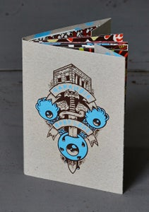 "Image of ""PARANOIA BABYLONE"" by Math FREAK CITY (2013) Screenprinted Book"