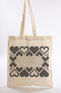 Image of Heart Border Tote Bag Kit