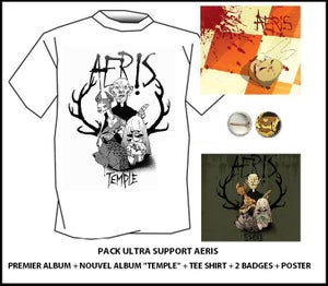 "Image of Album ""Temple"" + Tee shirt + Premier album + Badges + Poster// Ultra Bundle"