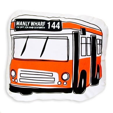 Image of 144 Manly Wharf Bus Shaped Cushion