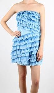 Image of Izzie - Blue Ruffle Dress