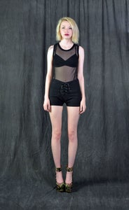 Image of Black Mesh Tank