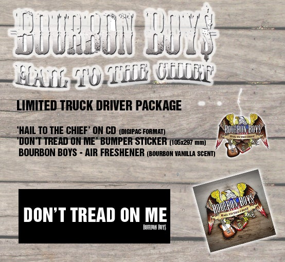 Image of Bourbon Boys - Truck Driver Package (CD/Sticker/Air Freshner)