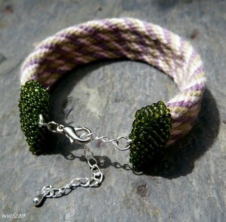 Image of SALE! Victorian Rose Garden, handmade kumihimo bracelet
