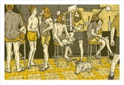 Image of RENNIE ELLIS 'AT THE PUB, BRISBANE 1982' Print (Yellow)