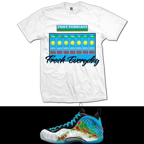 Image of Fresh Everyday - Foamposite Weatherman - T shirt - White