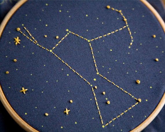 Image of orion constellation embroidery kit