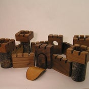Image of Table Top Castle - Walnut