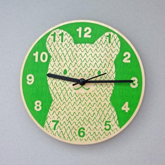 Image of Silent Wall Clock | Bear