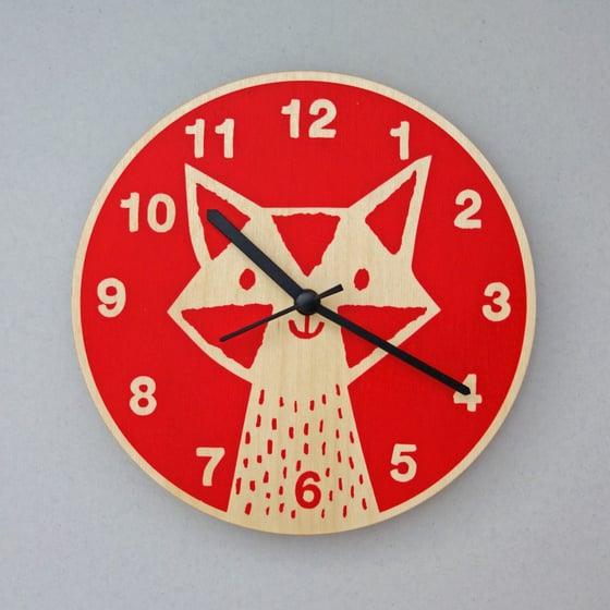 Image of Silent Wall Clock | Fox