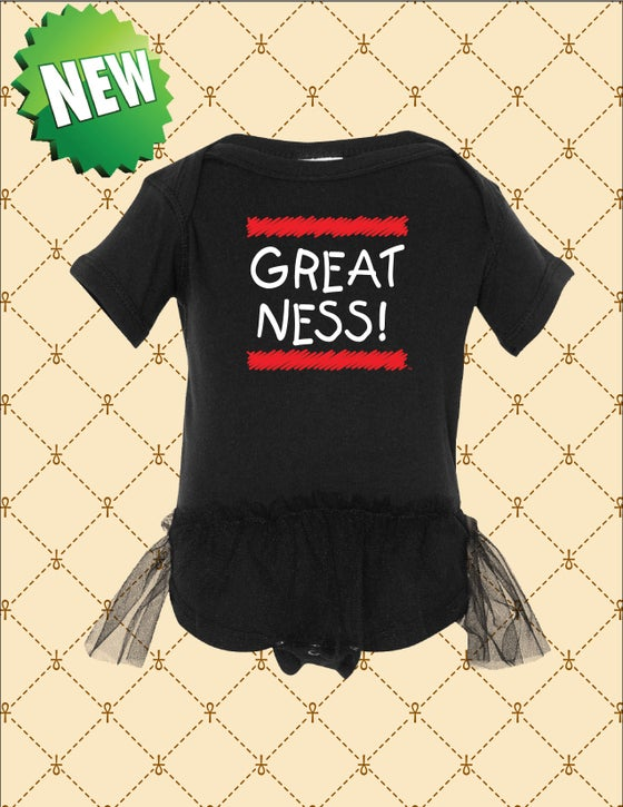 Image of BABY GREATNESS LOGO TUTU ONE-PIECE