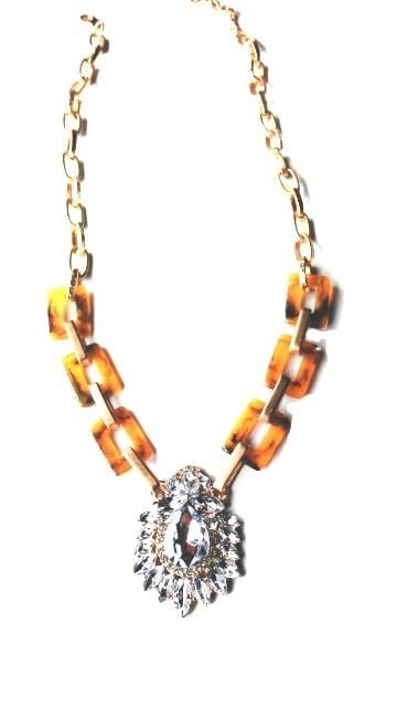 Image of Tortoise Crystal Burst Necklace