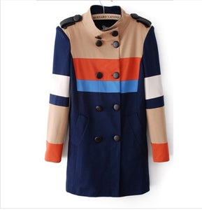Image of Colorblock Trench Coat