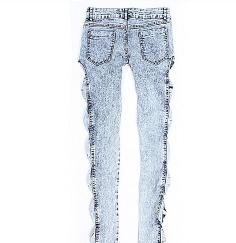 Image of Skinny Low Cut Button Fly Jeans