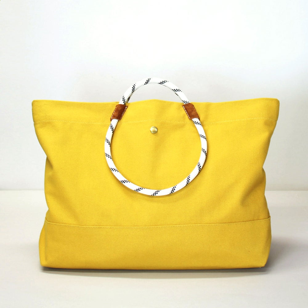 Image of MOLTON TOTE WARM YELLOW (W)