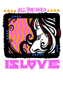 Image of Inkie - All You Need Is Love - Risograph Print
