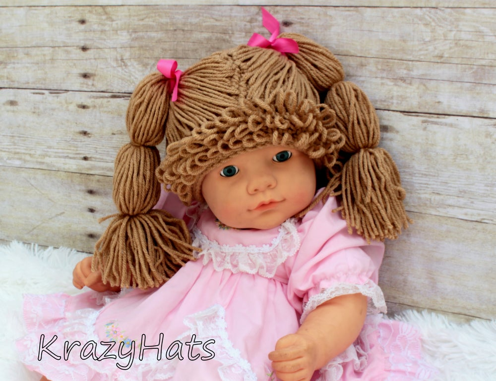 KrazyHats — Crochet Cabbage Patch Wig Hat 50e515b9435