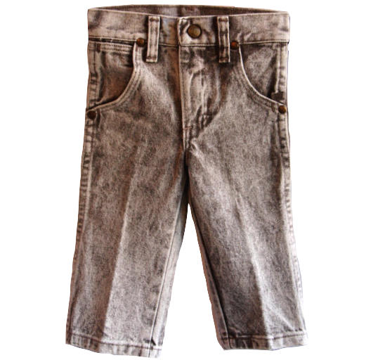 Image of Acid-Wash Heavyweight Denim Wrangler Jeans (1980s)