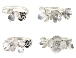 Image of Set of 3 Wilflower rings