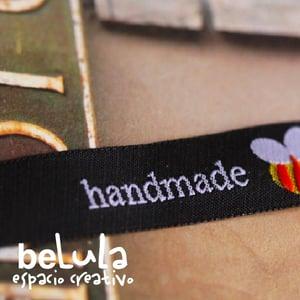 Image of Cinta de tela: Abeja handmade