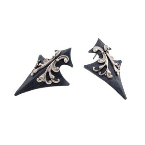 Image of Tristan's shield earrings