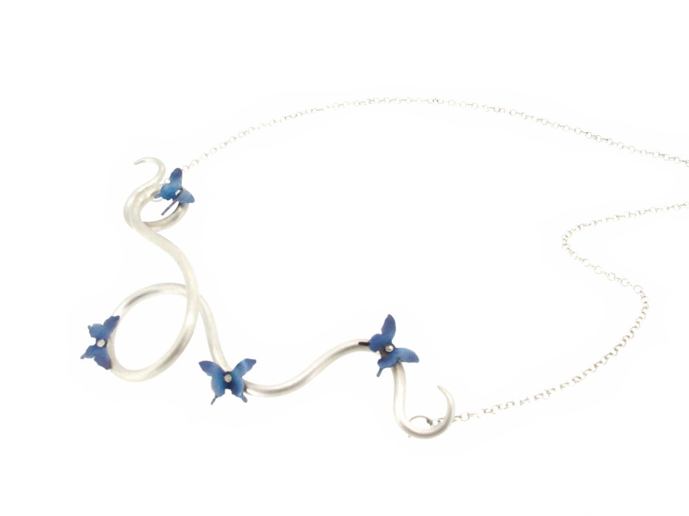 Image of Springtime Butterfly twisting vine necklace