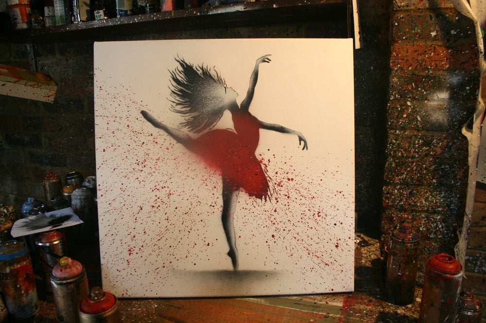 """Image of """"Red Ballerina"""" - Canvas Edition"""