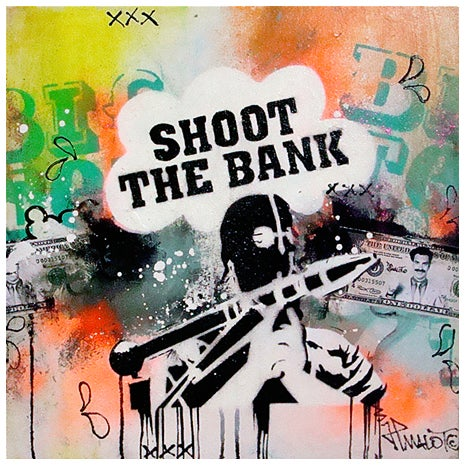 Image of ORIGINAL SHOOT THE BANK 'GTD' 40x40 cm