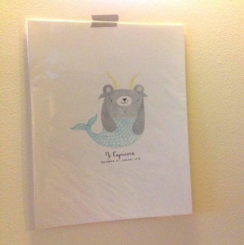 Image of capricorn pudgy bear print