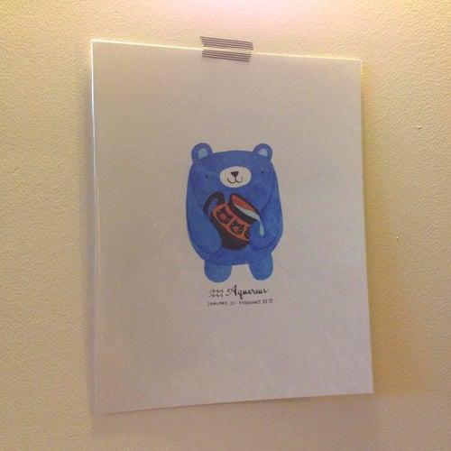 Image of aquarius pudgy bear print