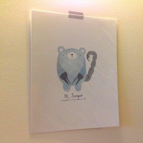Image of scorpio pudgy bear print