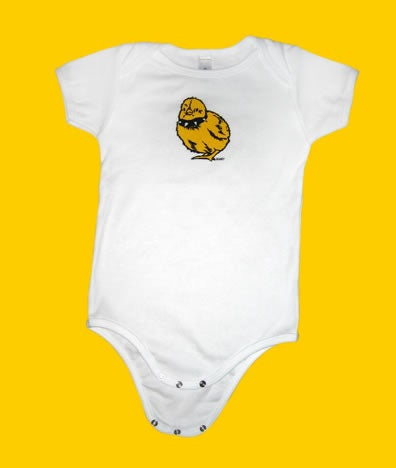 Image of Tough Chick Infant Onesie White