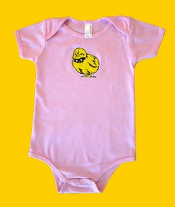 Image of Tough Chick Infant Onesie Pink