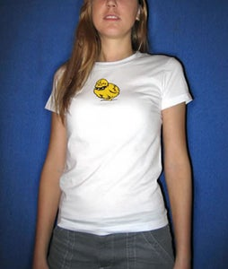Image of Tough Chick Fine Jersey Shirt White