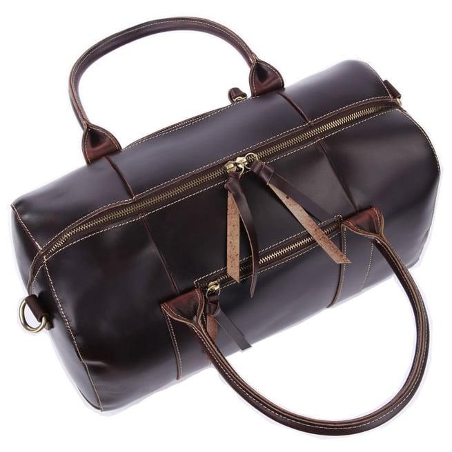 Image of Handmade Leather Travel Bag / Tote / Messenger Bag / Overnight Bag / Weekend Bag (n06-2)