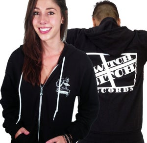 Image of SwitchBitch Records Unisex Zip-Up Hoodies