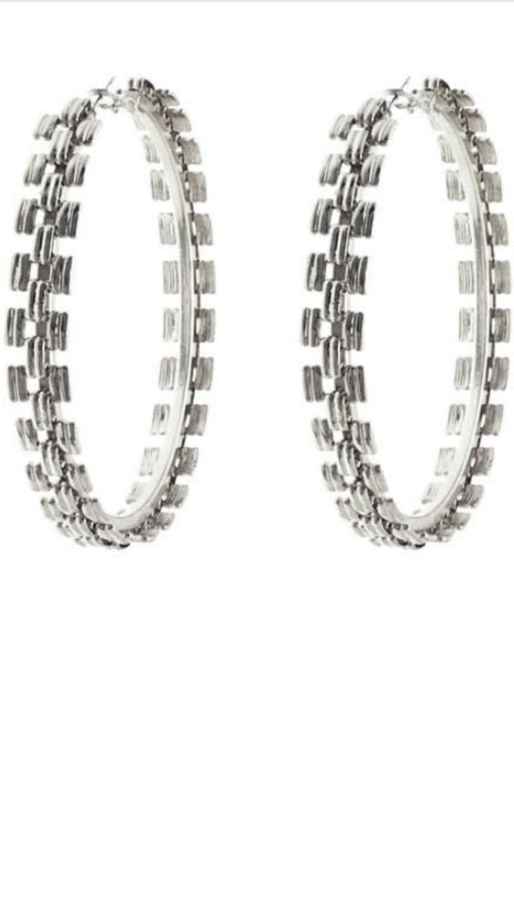 Image of Chain linked hoops
