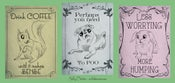 Image of Victorian Advice Animal Postcard Set