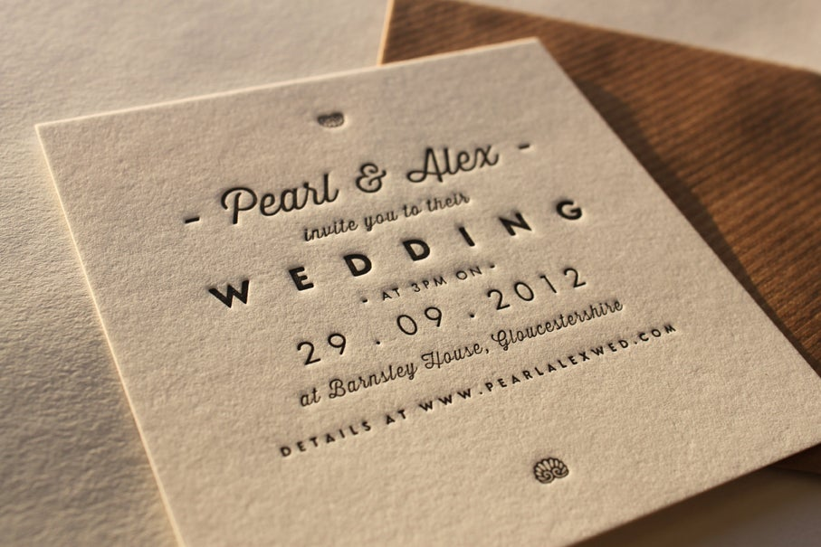 Image of Wedding Invitation Design /// 'Pearl' Design