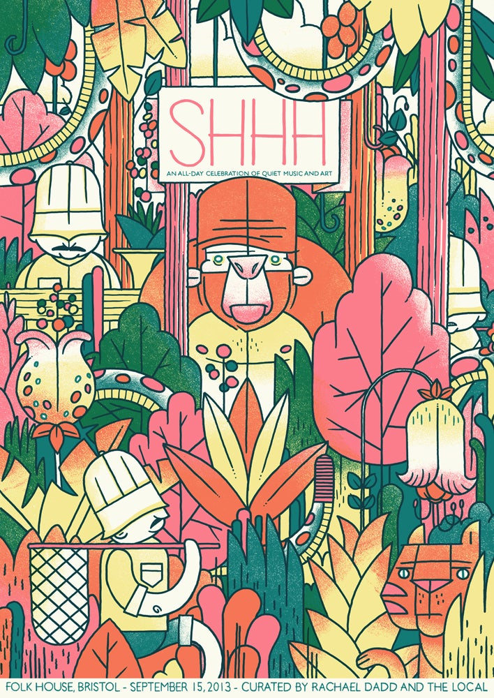 Image of SHHH Quiet Music Festival Poster - Bristol Sept 2013