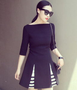 Image of [PO] Striped Skater Dress