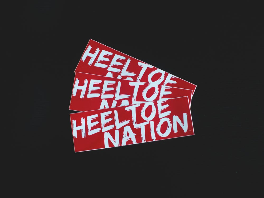 "Image of 8.5"" Vinyl HTN Red ""Slacker"" Bumper Sticker"