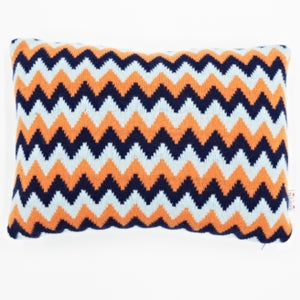 Image of Blue 'Archie' oblong cushion