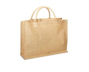 Image of Large Jute/Burlap Shopping Bag