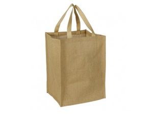 Image of Large Jute Burlap Grocery Bag