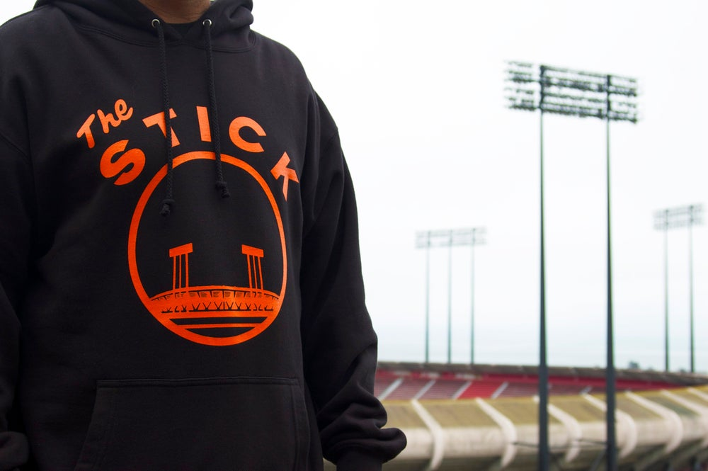 Image of The Stick Hooded Sweatshirt - San Francisco Giants Candlestick Park Black
