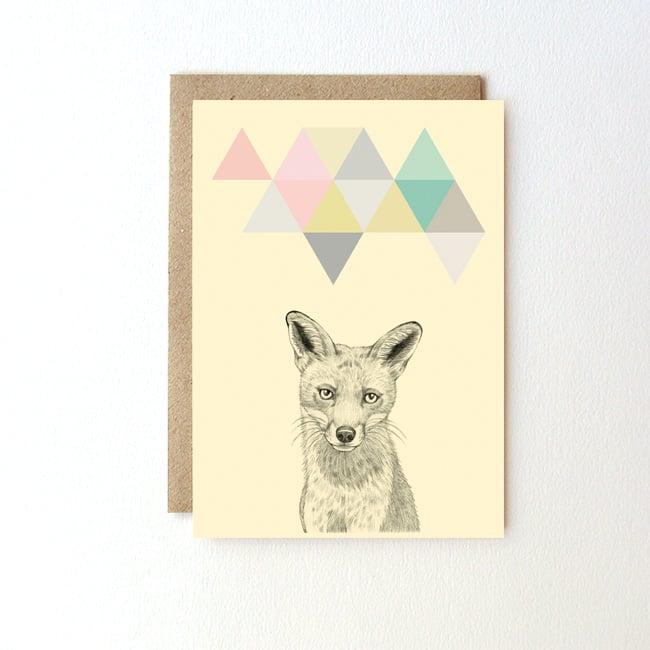 Image of Carte postale Renard + enveloppe
