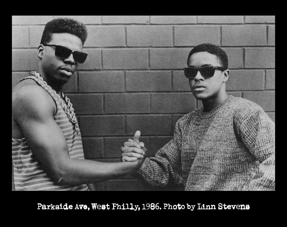 "Image of Schoolly-D & DJ Code Money ""Parkside 1986"" (photo by Linn Stevens) [BLACK]"