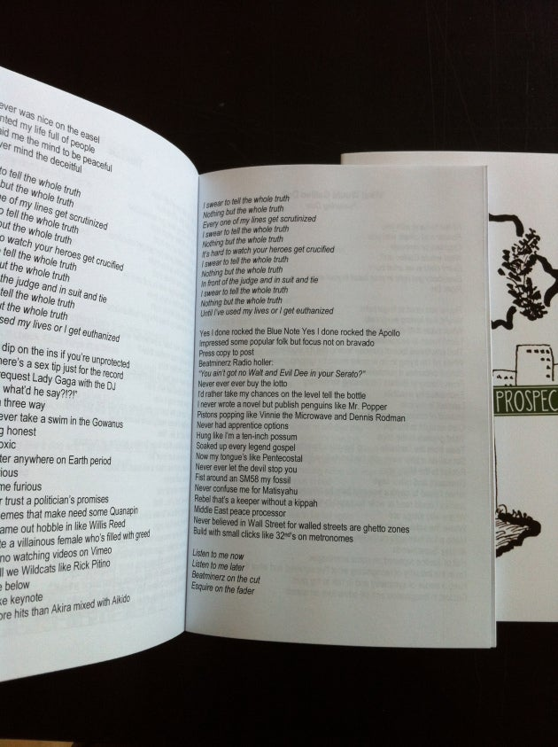 Image of Prospect Avenue Illustrated Lyric Book, Autographed (Limited Edition)